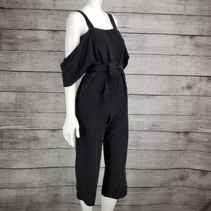 Topshop boutique off the shoulder Jumpsuit SILK